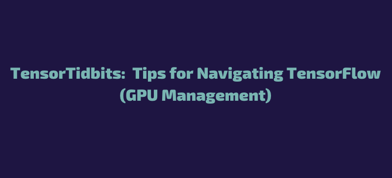 TensorTidbits:  Tips for Navigating TensorFlow (GPU Management)