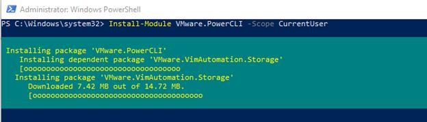 VMWare PowerCLI Modules Installing