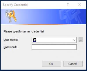 Login for Credentials