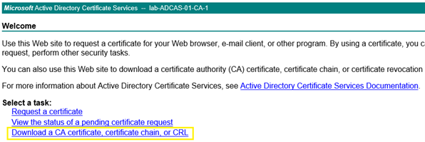 Download CA Certificate