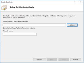 Online Certificate Authority